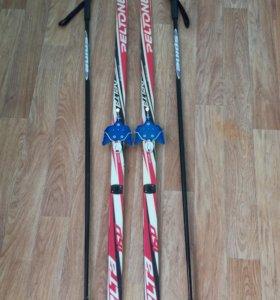 Беговые лыжи и лыжные палки