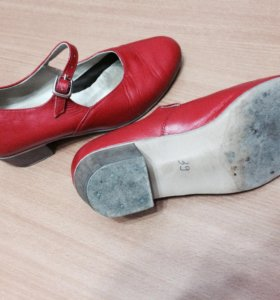 Народные туфли (красные)