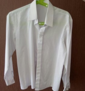 Белая рубашка х/б