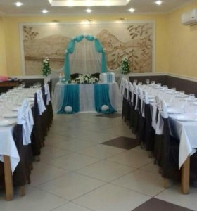 Украшение на свадебный стол