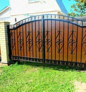 Кованые ворота артикул 53