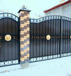 Кованые ворота артикул 52