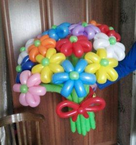 Воздушные шары. Цветы и фигуры.
