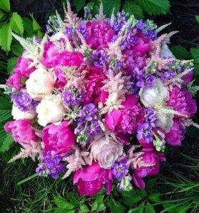 Букет под заказ (любые формы,цветы; ; качественно)