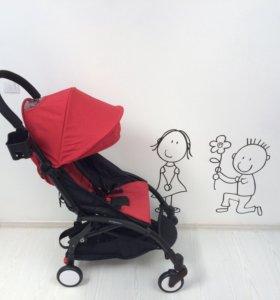 Коляска baby time красная