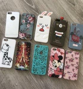 Чехлы-бамперы на iPhone 5/5s.(набор 8шт.)