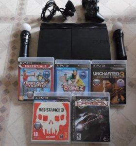 Sony PlayStation 3 комплект богатый и игры