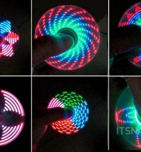 Спиннеры светящиеся - игрушка вертушка антистрес от