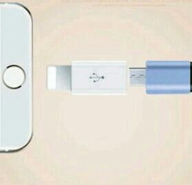 Переходник с micro usb на iPhone, ipad