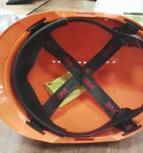 Каска защитная ЗМ белая оранж.
