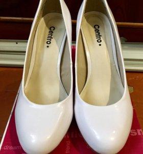 Туфли белые💍