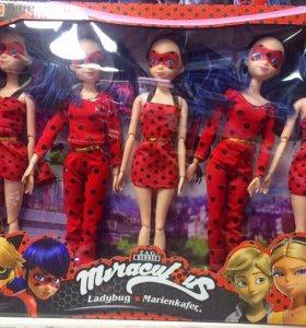 Леди Баг набор шарнирных кукол 5в1 с доставкой