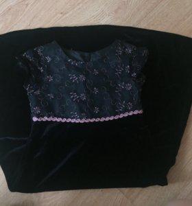 Бархатное платье