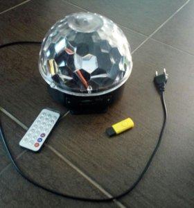 СВЕТОДИОИДНЫЙ ДИСКО - ШАР LED CRYSTAL MAGIC BALL L