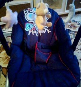 Шезлонг качалка переноска с игрушками