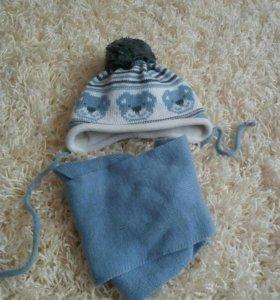 Шапка -шарф 150.костюм 400(шерсть)до года