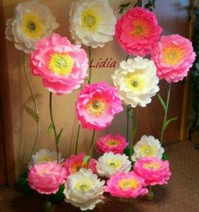Украшения для праздников. цветы для фотосесий