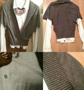 Комплект джемпер и рубашка