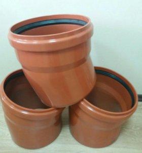 Отвод ПВХ (НПВХ) 315 15гр для наружной канализации