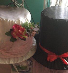 Свадебные шляпы на авто