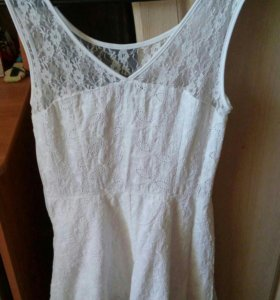 Белое платье сарафан