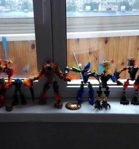 Роботы бионикл Лего 10 штук