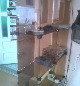 Стеклянные (затемненное стекло) полки