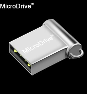 Мини флешка USB 16гб метал