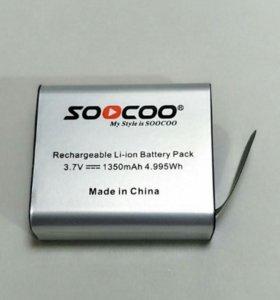 Аккумулятор для экшн камер sjcam, soocoo
