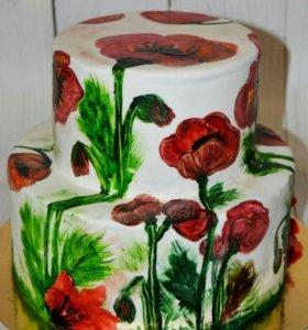 Торты , ручная роспись