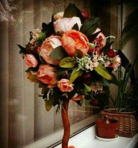 Топиарий - красивое украшение для вашего дома.