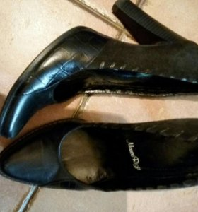 Туфли кожа+замша