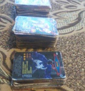 Карточки человека паука 243 штуки 37 блистящих