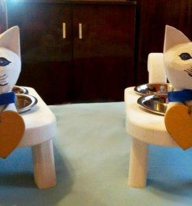 Кормушка /миска для котов ручной работы