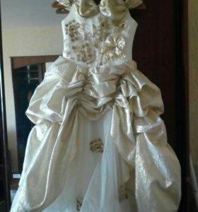 Платье для маленькой принцессы. Ростовка примерная