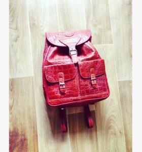 Рюкзак из натуральной кожи Италия