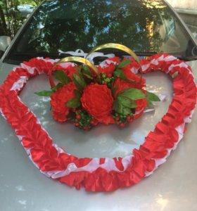 Украшение на свадебный авто и сундук для надела