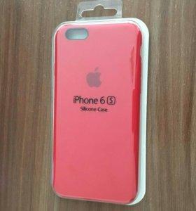Красный силиконовый чехол Apple iPhone 6/6s