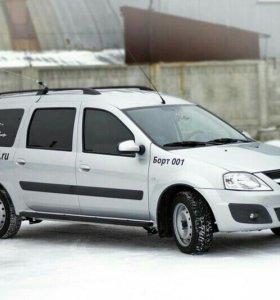 Пороги металлические Lada (ВАЗ) Largus 2012-