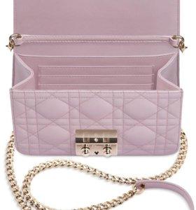 Сумка Miss Dior mini розовая из кожи ягнёнка