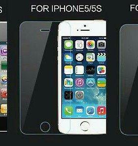 Защитные стёкла на айфон 4.4s, 5.5s, 6.6s