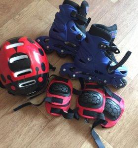 Ролики+ защита и шлем
