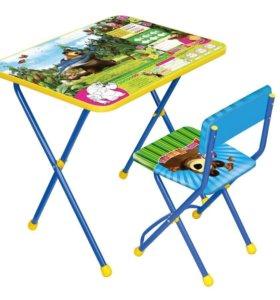Комплект складной стол+стул (арт.КП2) Маша и Медведь(9)