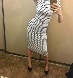 Платье лапша полосатое