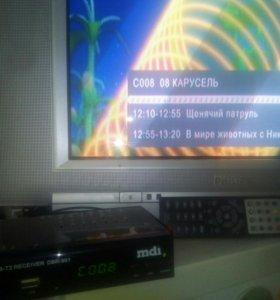 Телевизор + цифровая приставка