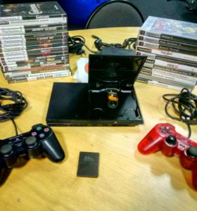 PS2+48 игр. PlayStation 2 комплект