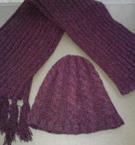 шапочка и шарф(вязаные)