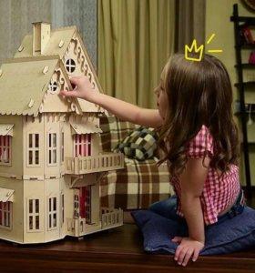 Кукольный Чудо- домик+ 6 комплектов мебели +подарок!