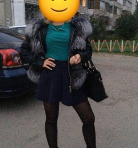 Кожаная куртка из чернобурки (42 р)
