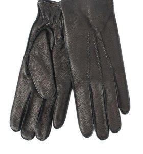 Новые мужские перчатки из кожи оленя